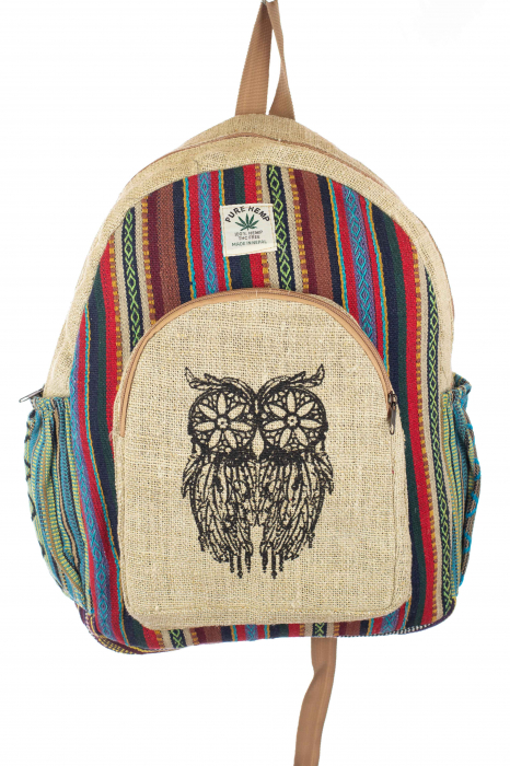 Rucsac din canepa si bumbac - OWL 6 0
