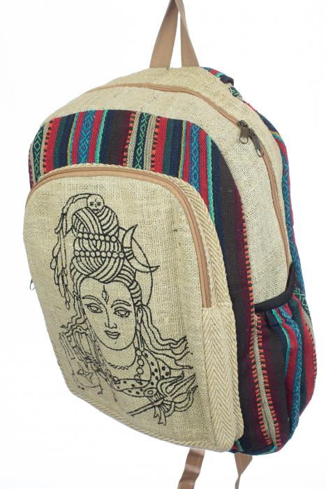 Rucsac din canepa si bumbac - Buddha Head [1]