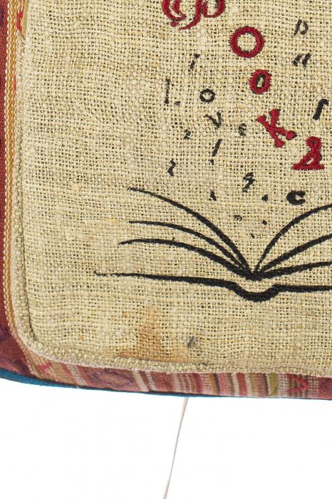 Rucsac din canepa si bumbac - I love books 6 1