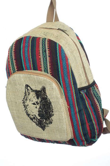Rucsac din canepa si bumbac - Half Wolf 1
