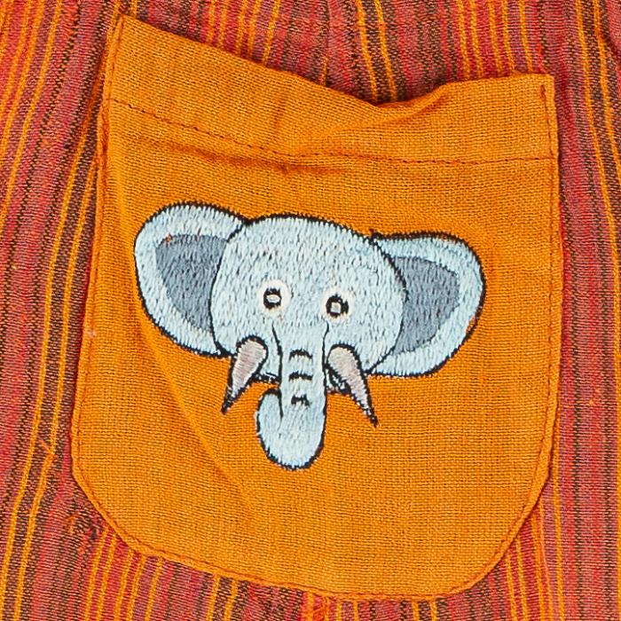 Salopeta colorata de copii - Elefant M11 2