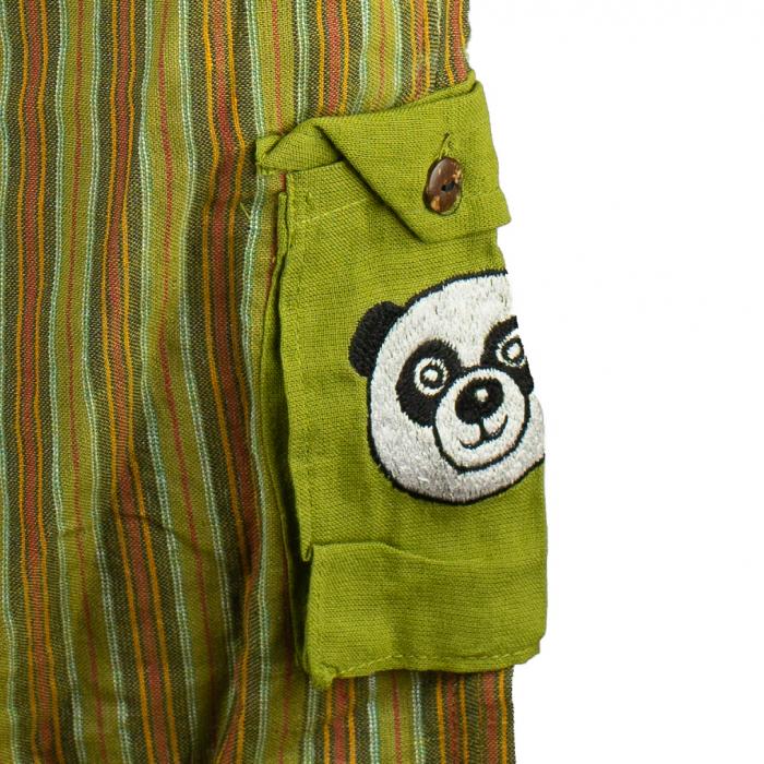 Salopeta colorata de copii cu buzunare- Panda M2 2