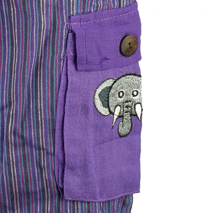 Salopeta colorata de copii cu buzunare- Elefant M4 2