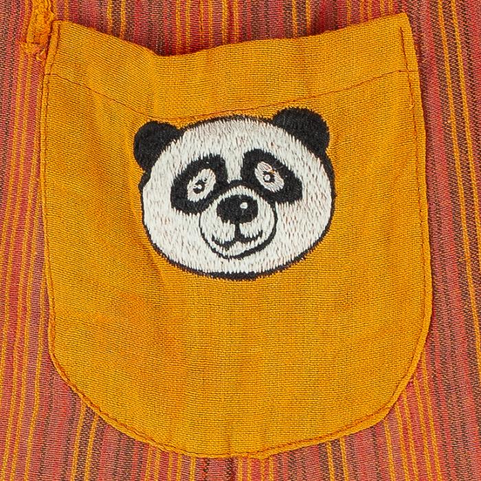 Salopeta colorata de copii - Panda M8 1