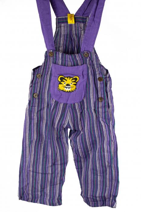 Salopeta colorata de copii - Tigru M18 0