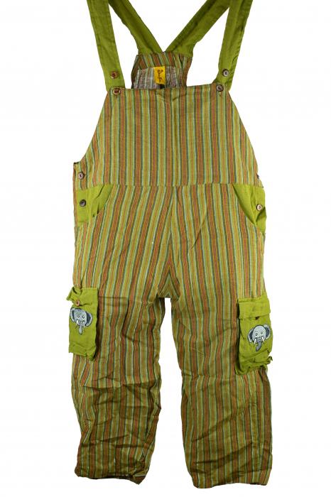 Salopeta colorata de copii cu buzunare- Elefant M1 0