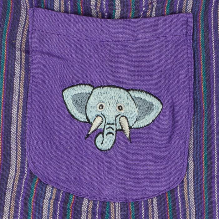 Salopeta colorata de copii - Elefant M7 1