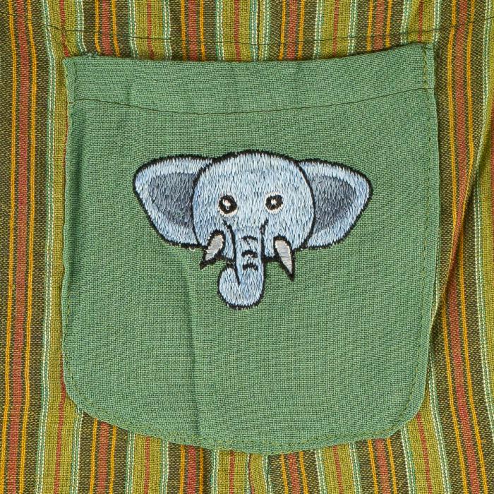 Salopeta colorata de copii - Elefant M15 1