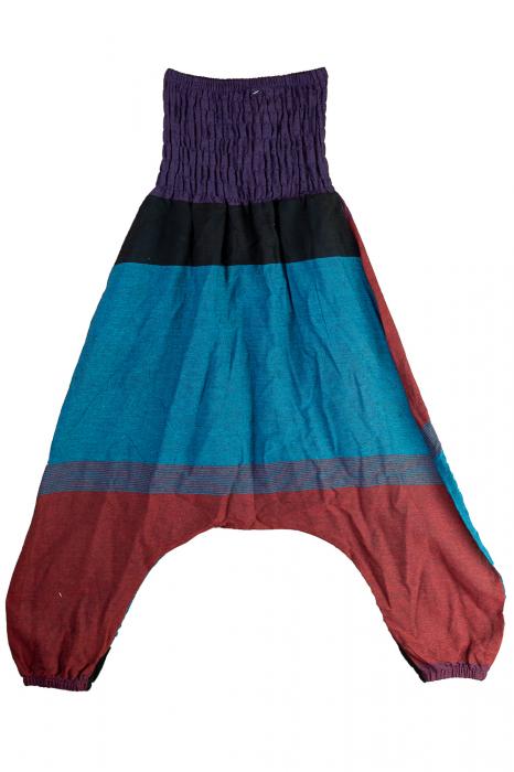 Salvari copii din bumbac cu talie inalta - Multicolor - Albastru 0
