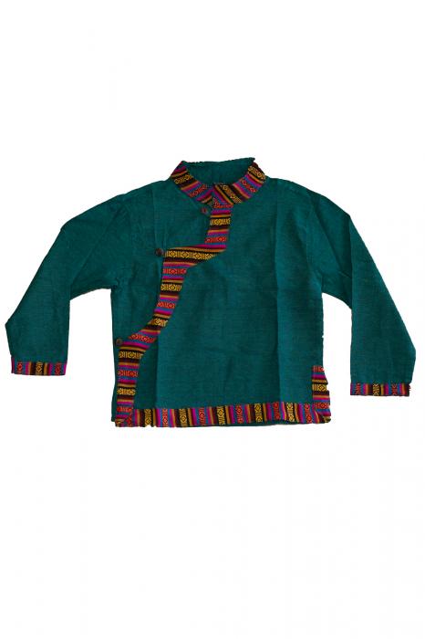 Set salvari si bluza pentru copii - Turcoaz 0