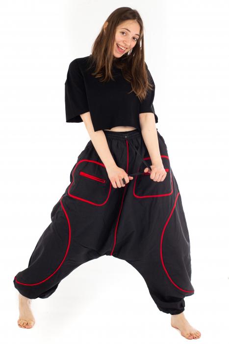 Salvari cu motive geometrice - Black & Red [4]