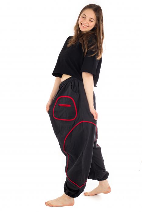 Salvari cu motive geometrice - Black & Red [2]