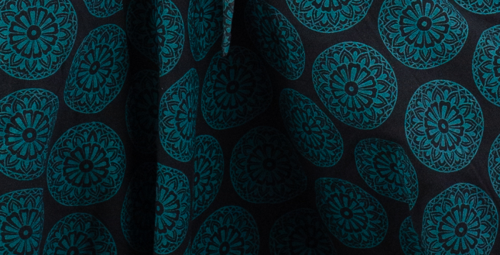 Salvari bumbac print Mandala - Teal 4
