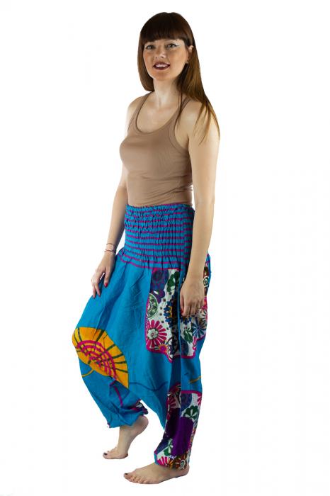 Salvari femei albastri cu spirala - JKT40 3