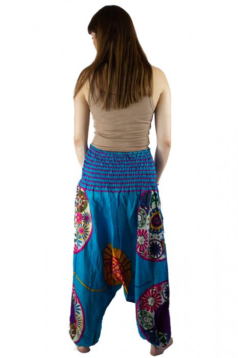 Salvari femei albastri cu spirala - JKT40 4