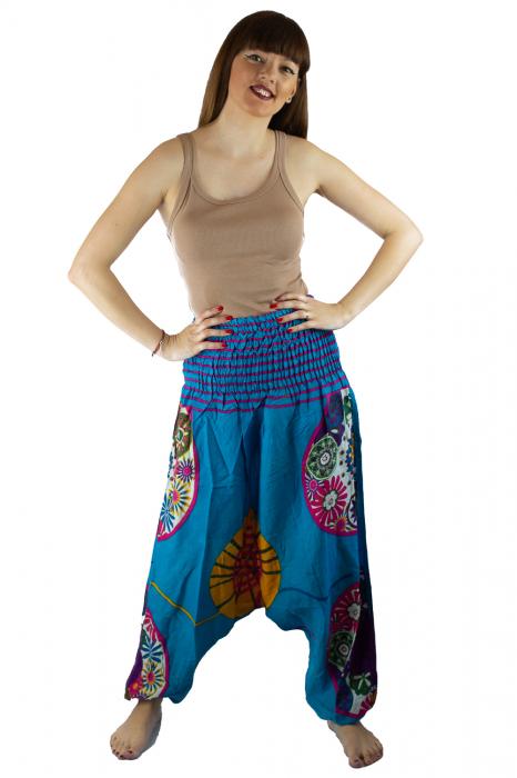 Salvari femei albastri cu spirala - JKT40 0