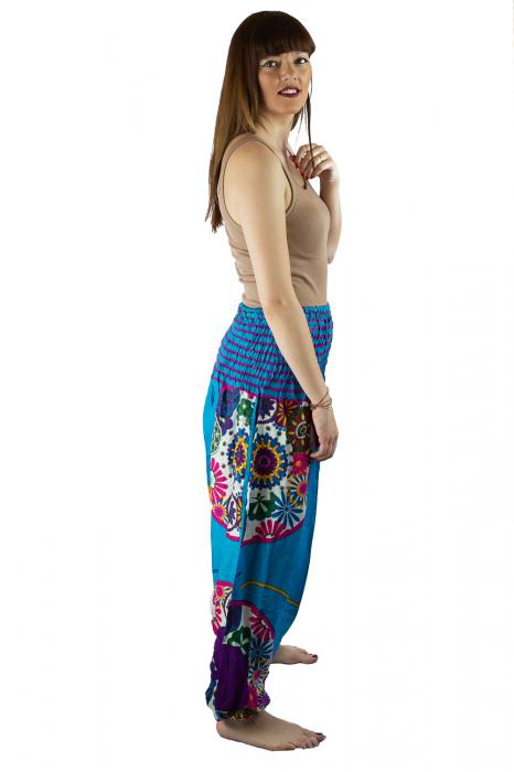 Salvari femei albastri cu spirala - JKT40 1
