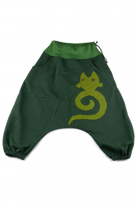 Salvari grosi copii - Pisica - Verde 0