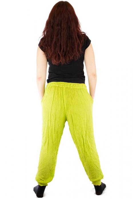 Pantaloni pentru femei creponati verzui 4