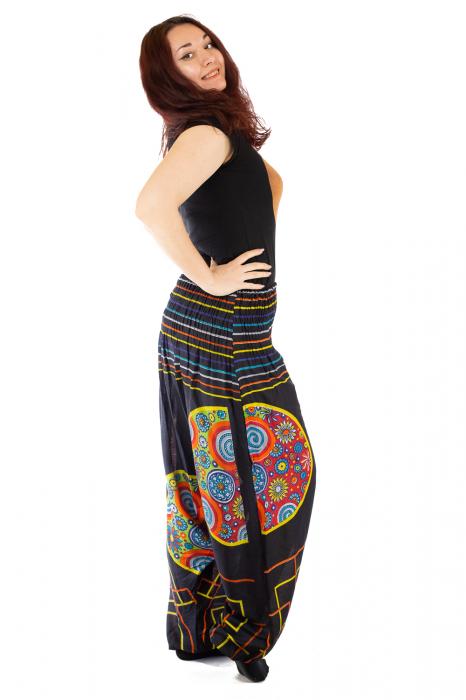 Salvari pentru femei cu banda multicolora lata 2