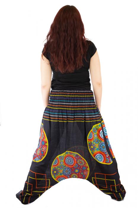 Salvari pentru femei cu banda multicolora lata 4