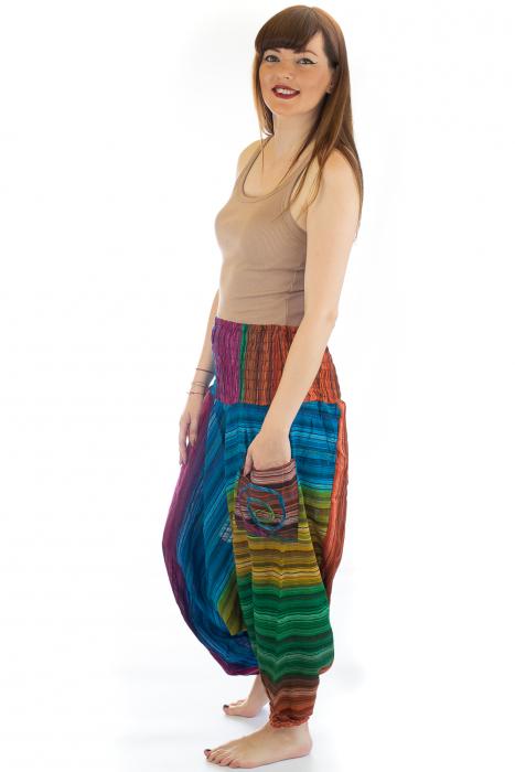 Salvari subtiri multicolor cu banda colorata - Model 2 - CT19 [2]