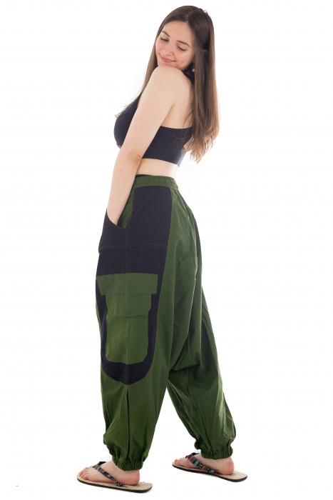 Salvari - Verde cu negru [2]