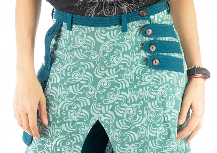 Salvari fusta/pantalon cu print floral - Albastru Deschis 2