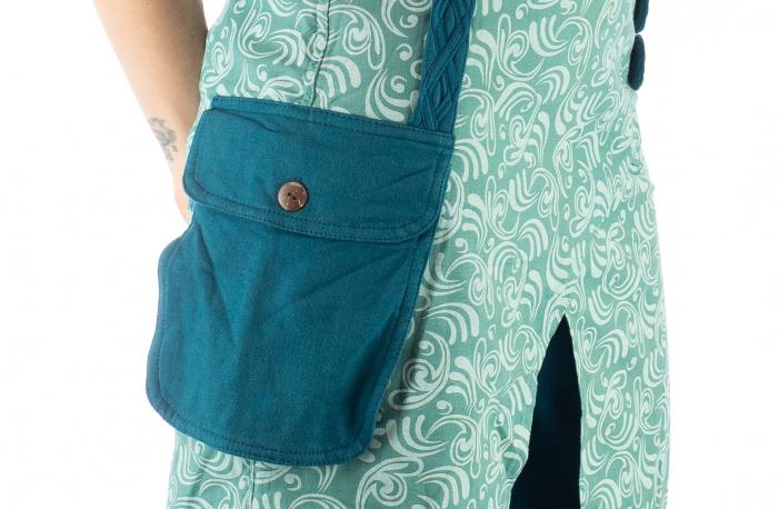 Salvari fusta/pantalon cu print floral - Albastru Deschis 8