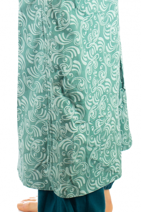 Salvari fusta/pantalon cu print floral - Albastru Deschis 4