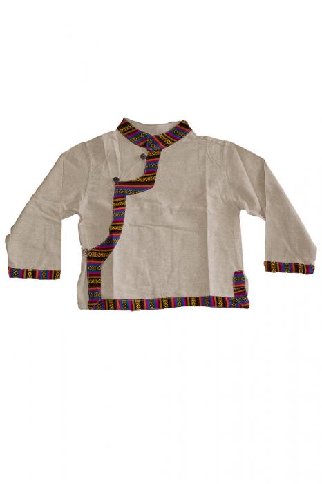 Set salvari si bluza pentru copii - Crem 0