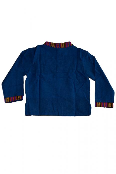 Set salvari si bluza pentru copii - Bleumarin 1