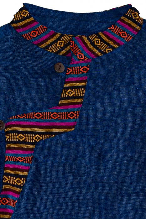 Set salvari si bluza pentru copii - Bleumarin 2