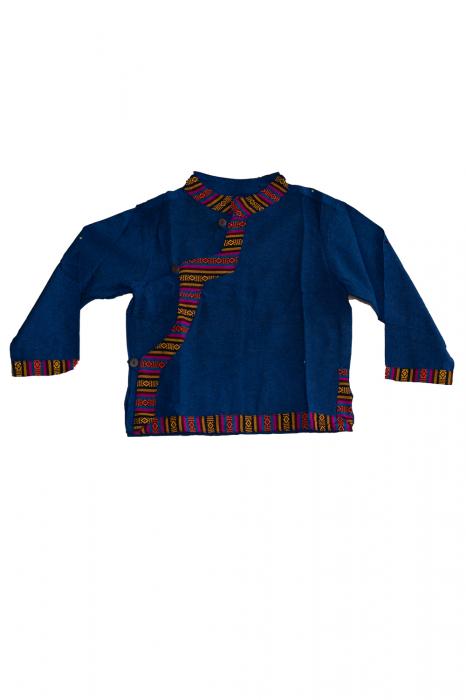 Set salvari si bluza pentru copii - Bleumarin 0