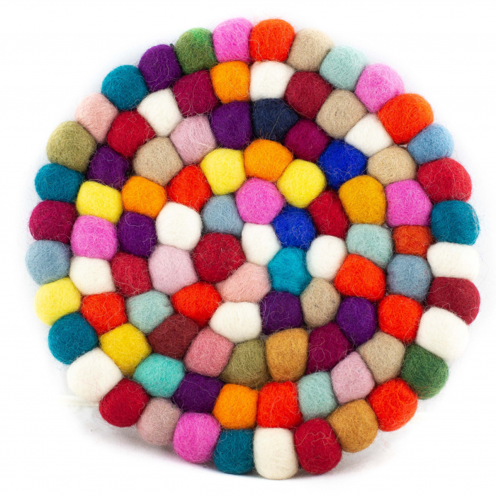 Suport Termic multicolor din feltru - Rotund 0