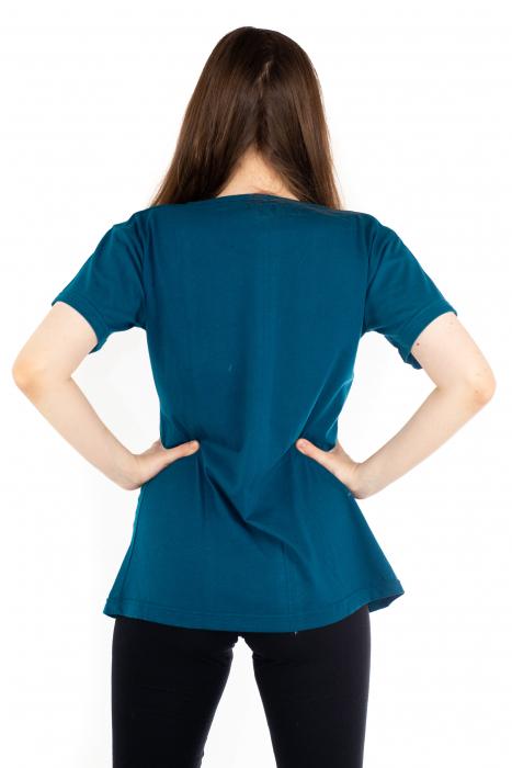 Tricou albastru - Green Mandala [3]