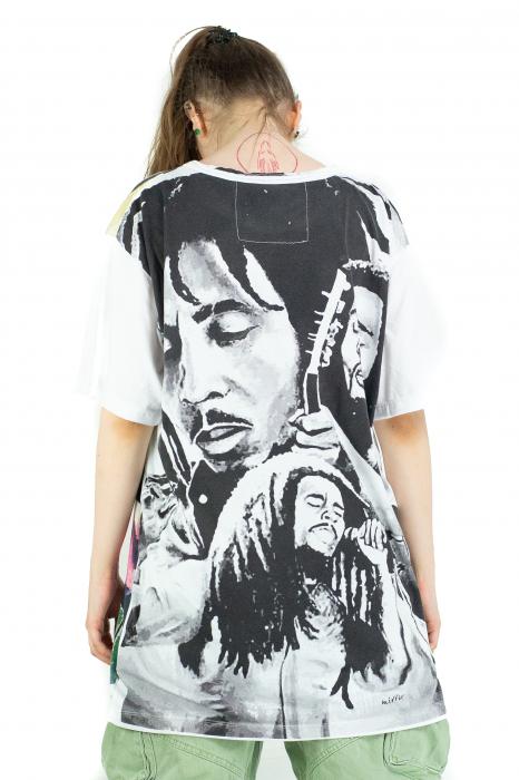 Tricou Bob Marley - alb - Marime XL [2]