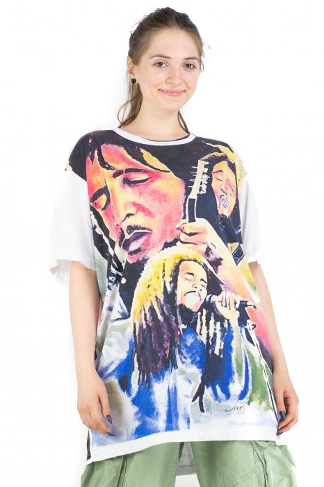 Tricou Bob Marley - alb - Marime XL [1]