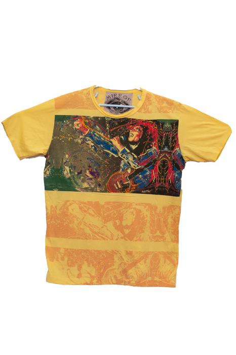Tricou Bob Marley Concert - Galben - Marimea M [0]
