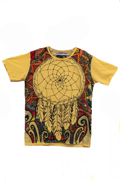 Tricou Dream Catcher - Yellow - Marime L 0