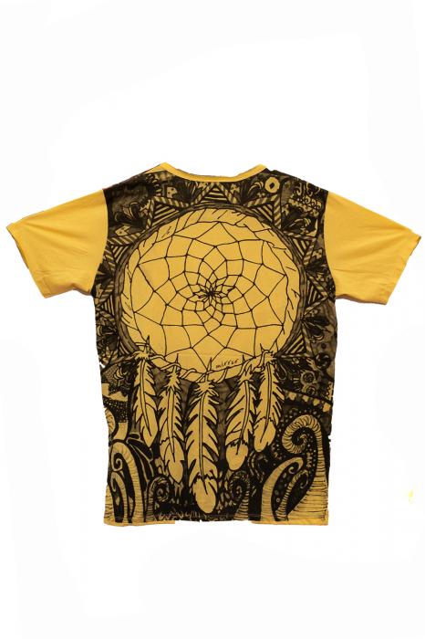 Tricou Dream Catcher - Yellow - Marime L 1