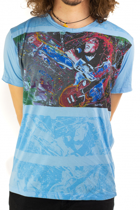 Tricou Bob Marley - Blue Lion - Marime M [0]