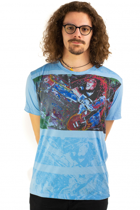 Tricou Bob Marley - Blue Lion - Marime M [1]