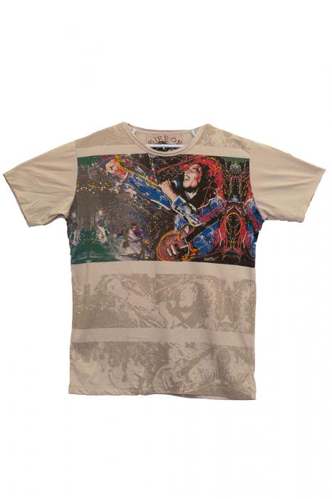 Tricou Bob Marley Concert - Crem - Marimea M 0