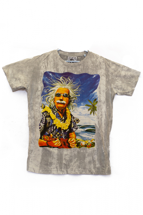 Tricou Einstein Vacation - Gri Deschis- Marime M 0