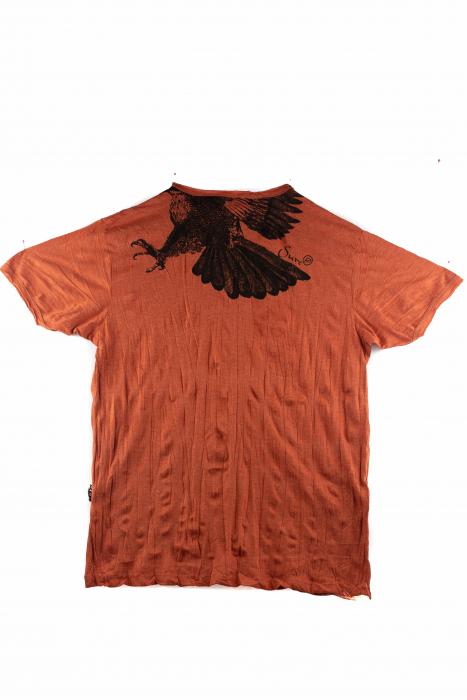 Tricou hippie - Eagle - Orange - Marime L [1]