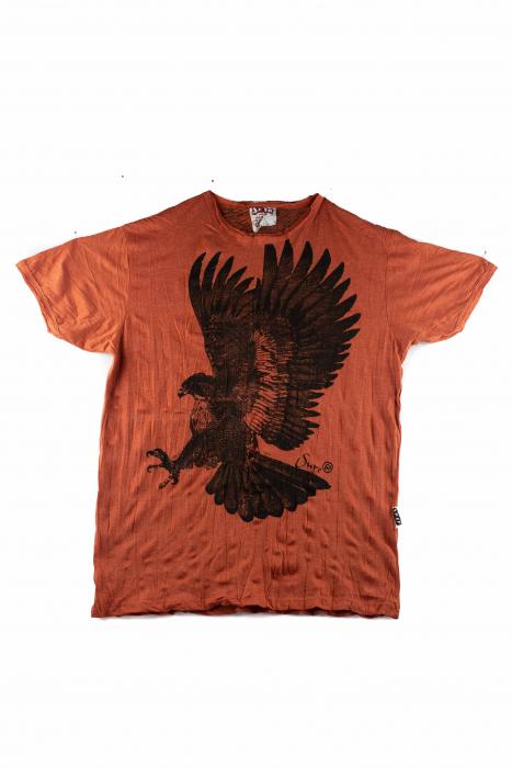Tricou hippie - Eagle - Orange - Marime L [0]