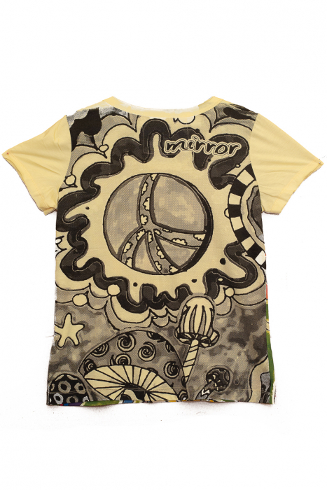 Tricou Hippie Mushrooms - Galben - Dame 1