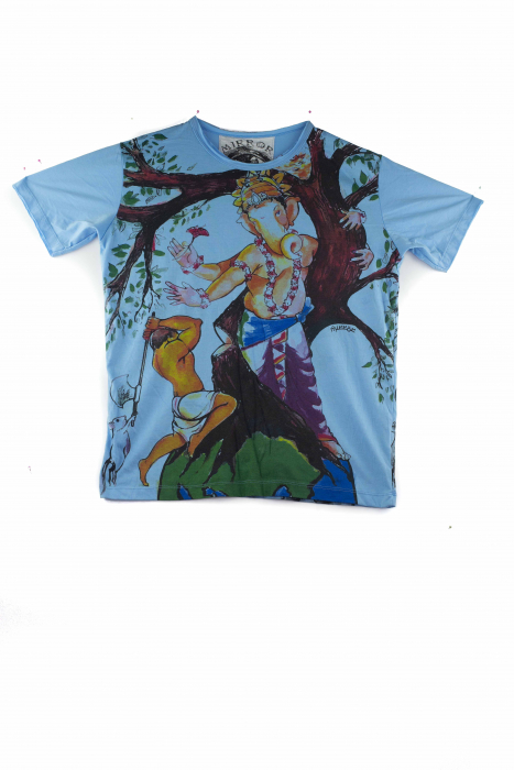 Tricou hippie - Protect Nature - Blue - marime M [0]