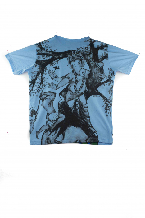 Tricou hippie - Protect Nature - Blue - marime M [1]